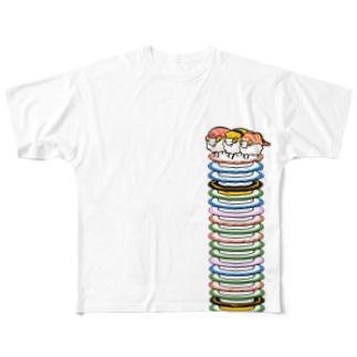 すしひつじとさらのやま Full graphic T-shirts