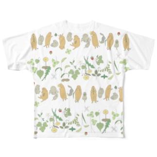ごまーみんの寝っころジリス Full Graphic T-Shirt