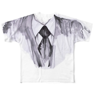 フォーマルな フルグラフィックTシャツ
