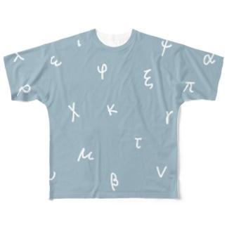 ギリシア文字 Full graphic T-shirts