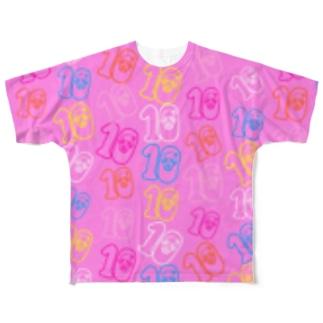10周年記念Tシャツ💝10ロゴ💝 Full graphic T-shirts