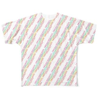 DREAM BREAKERカラフルロゴデザイン Full graphic T-shirts