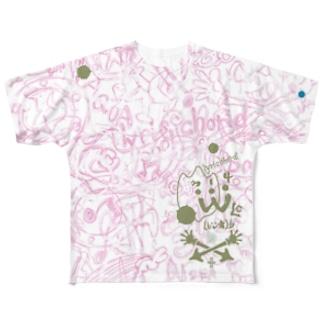 LC314W海図ー桜樹ー Full graphic T-shirts