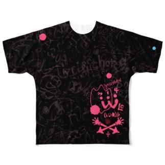 LC314W海図ー夜桃ー Full graphic T-shirts