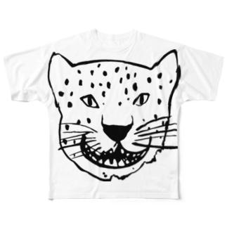 ドデカジャガー黒 Full graphic T-shirts