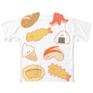たべものーず Full graphic T-shirts