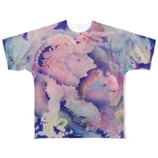 かじる Full graphic T-shirts