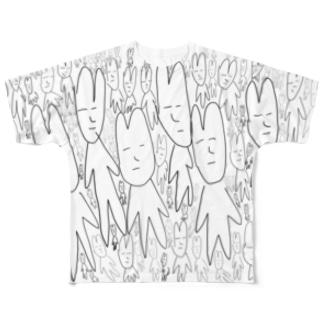 たくさんうさぎたん Full graphic T-shirts