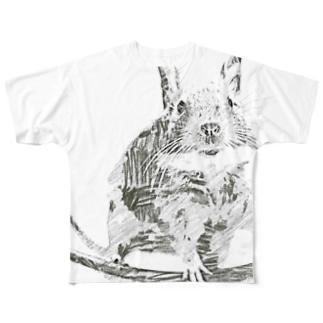 スケッチデグー Full graphic T-shirts