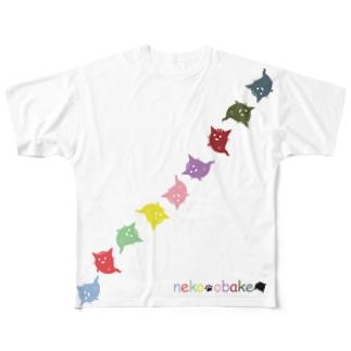 ねこおばけ Full Graphic T-Shirt