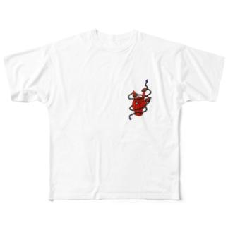 数珠ロック Full graphic T-shirts