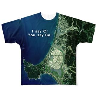 秋田県 山本郡 Tシャツ 両面 Full graphic T-shirts