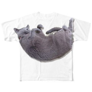 おやすみねこ Full graphic T-shirts