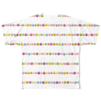 あめ玉ボーダー Full graphic T-shirts