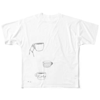 ドローイングTシャツ Full graphic T-shirts
