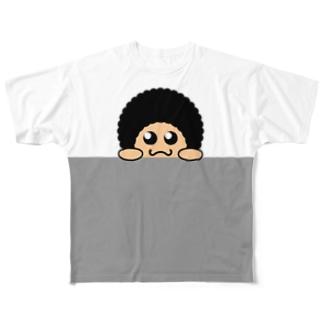 覗き見あふろ Full graphic T-shirts