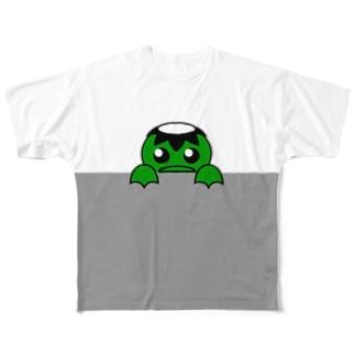 覗き見かっぱ Full graphic T-shirts