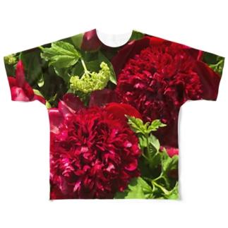 オブしゃくやく Full graphic T-shirts