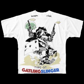 hassegawa empire strikes back. TYPE-DT GATLINGSLINGER フルグラフィックTシャツ