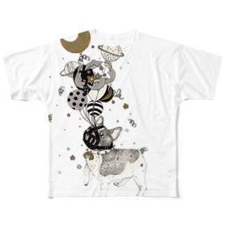 ぼくはむてき Full graphic T-shirts