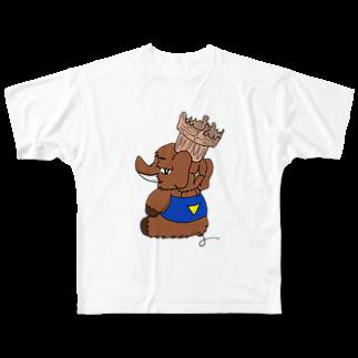 名無ノ作者のトマドン フルグラフィックTシャツ