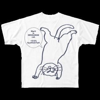 マルティ部屋の【重版記念】ボカシなし逆さマル Full graphic T-shirts