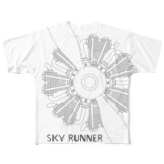 SKY RUNNER 2017_B3 Full graphic T-shirts