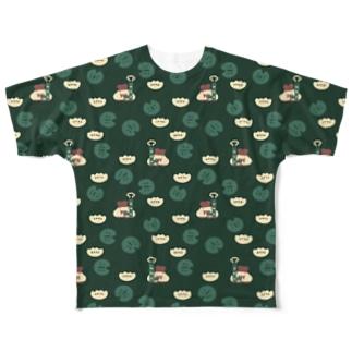 すいとんニンジャ(緑) Full graphic T-shirts