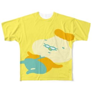 BIGのんびり(黄) Full graphic T-shirts