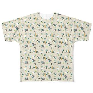 うさリバティ(立ち耳) Full graphic T-shirts