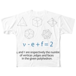 飛ばすはとバスのオイラーの多面体定理 Full graphic T-shirts