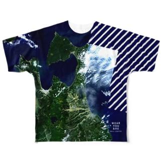 青森県 下北郡 Full graphic T-shirts