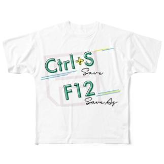 Excelショートカット グッズ〜保存 Full graphic T-shirts