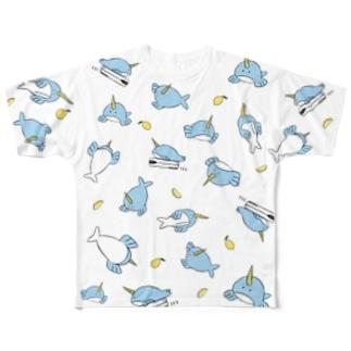 ポンちゃんTシャツ(白) Full Graphic T-Shirt