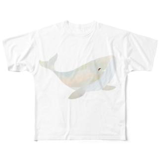 AM.5:00のクジラ Tシャツ Full graphic T-shirts