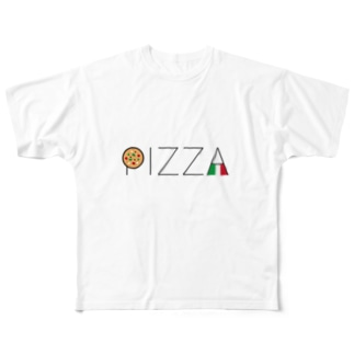 PIZZA TypoTee Full graphic T-shirts