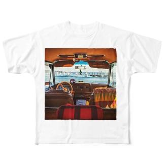 jeep ワゴニア Full graphic T-shirts