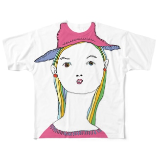 dressed in pink Full graphic T-shirts