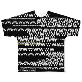 弾幕 Full graphic T-shirts