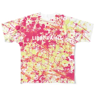 LIBRI PAINT WORK 001(文字入り) Full graphic T-shirts