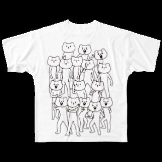 ベタックマのベタックマ いっぱい(大) フルグラフィックTシャツ