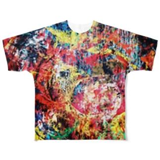 怒り Full graphic T-shirts