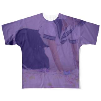 恐ろしく憂鬱なる Full graphic T-shirts