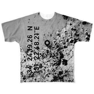 山口県 萩市 Tシャツ 片面 Full graphic T-shirts