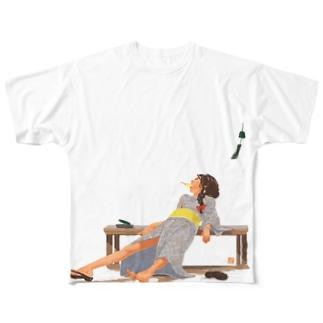 暑中お見舞い申し上げます。 Full graphic T-shirts