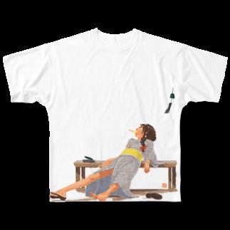 イテカサンチの暑中お見舞い申し上げます。 Full graphic T-shirts