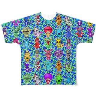 ピコピコオールスター アラビア Full graphic T-shirts
