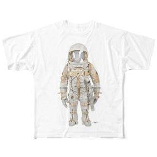 The Right Stuff  -Ham the Chimp- Full graphic T-shirts