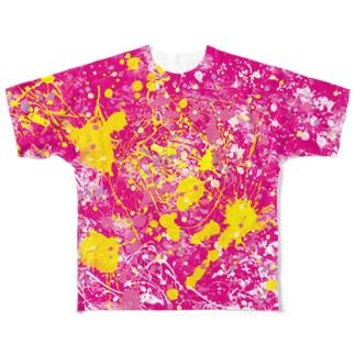 LIBRI PAINT WORK 022 フルグラフィックTシャツ