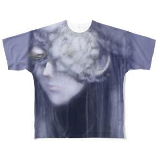 死んだ魚の目の乙女(牡丹) Full graphic T-shirts